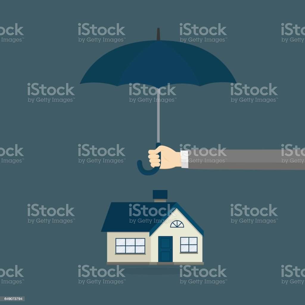 Home Insurance Illustration vector art illustration