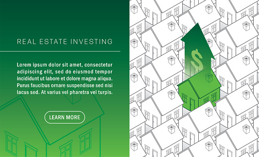 Home Insurance Isometric House Real Estate Homeowner Housing Market Property Taxes Morgage
