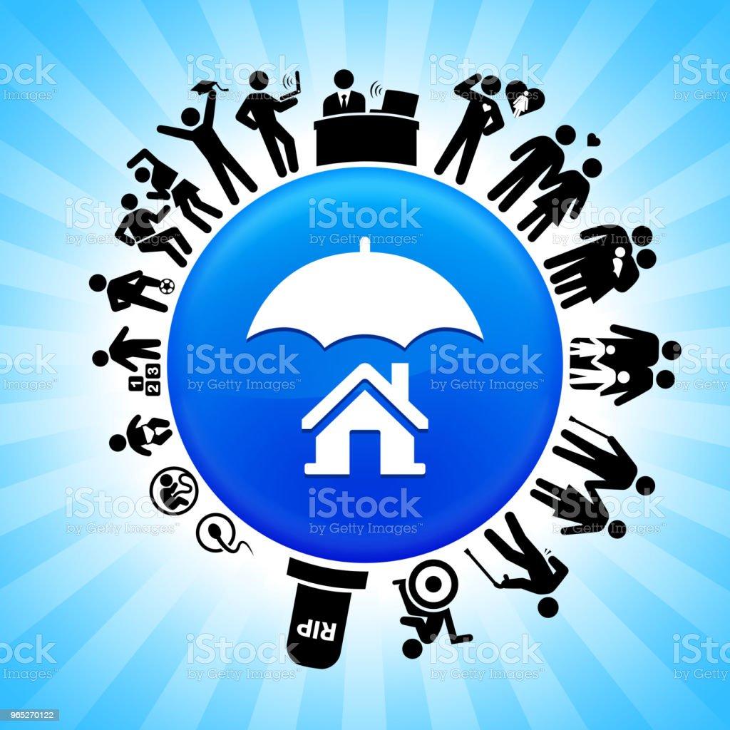 Home Insurance Lifecycle Stages of Life Background home insurance lifecycle stages of life background - stockowe grafiki wektorowe i więcej obrazów adolescencja royalty-free