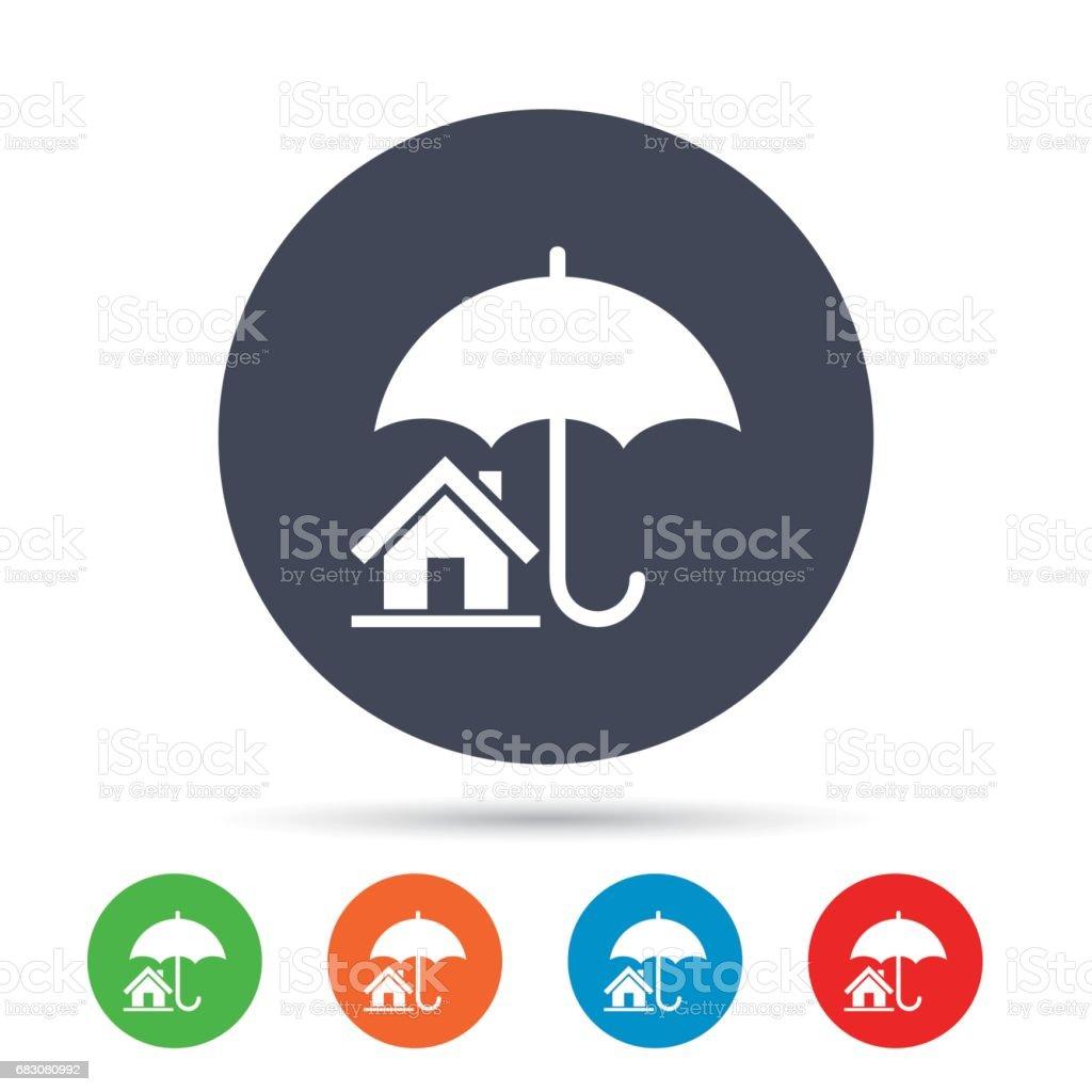 Home insurance sign icon. Real estate insurance. home insurance sign icon real estate insurance - arte vetorial de stock e mais imagens de aplicação móvel royalty-free