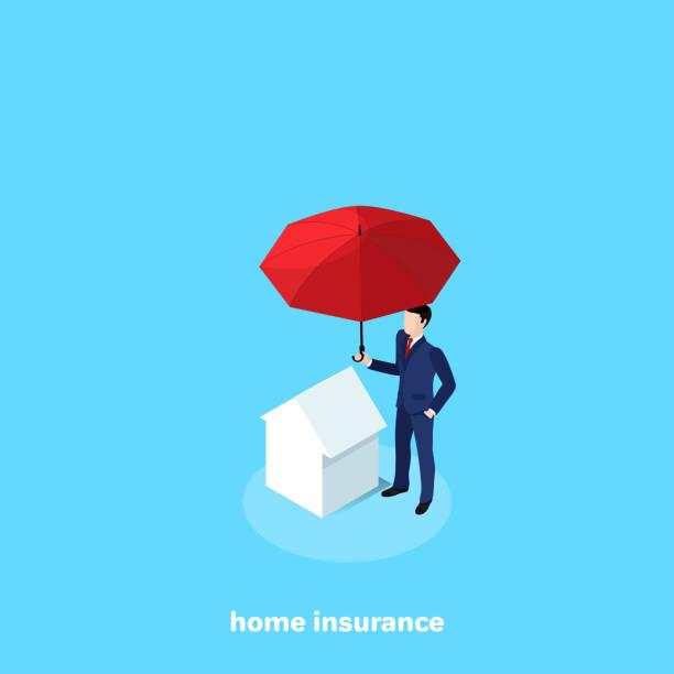 home insurance vector art illustration
