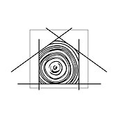 abstract wooden house sketches