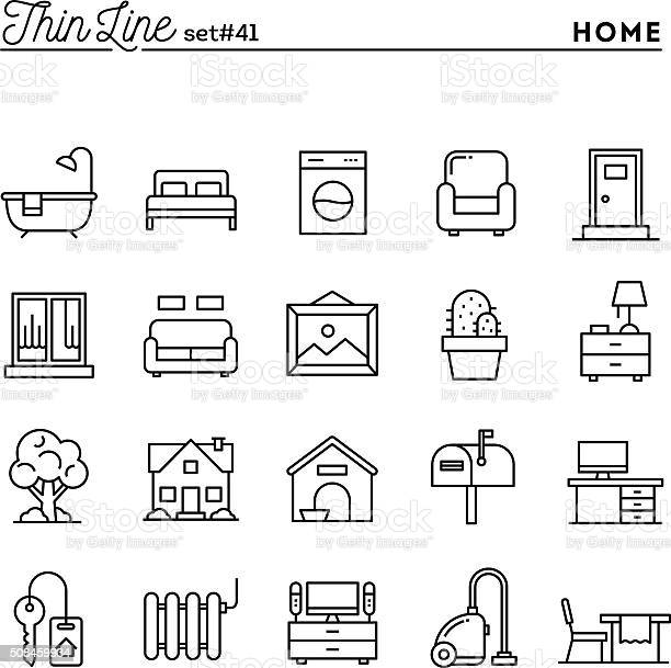 Home interior furniture and more thin line icons set vector id508459934?b=1&k=6&m=508459934&s=612x612&h=9ii7xurjiwi 6suivlxj2mpyoa14qcvtxxmswi3yryo=