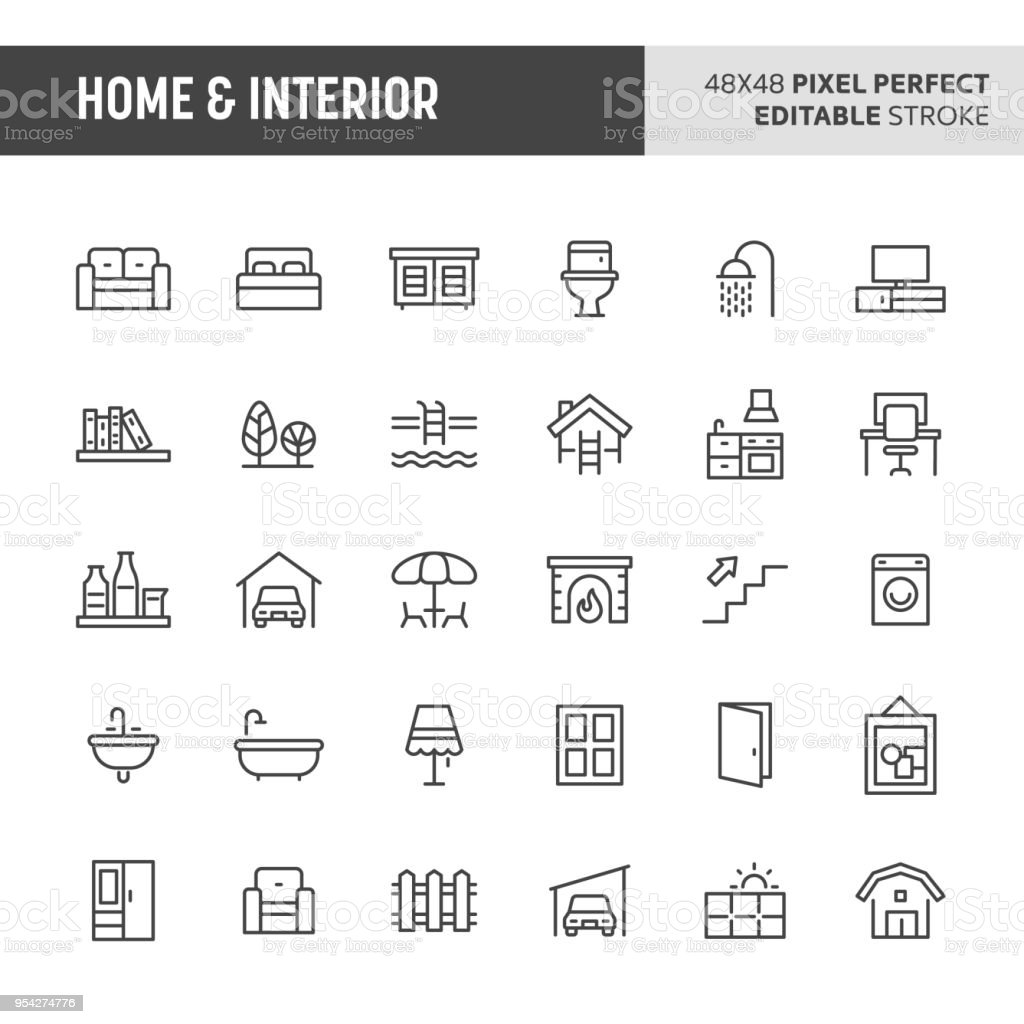 Home & Interior Icon Set