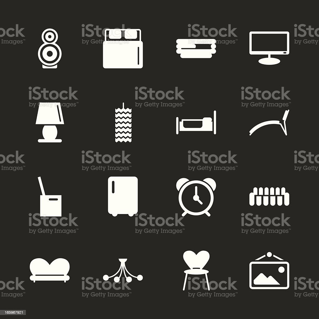 Home Interior Icons - White Series | EPS10 vector art illustration
