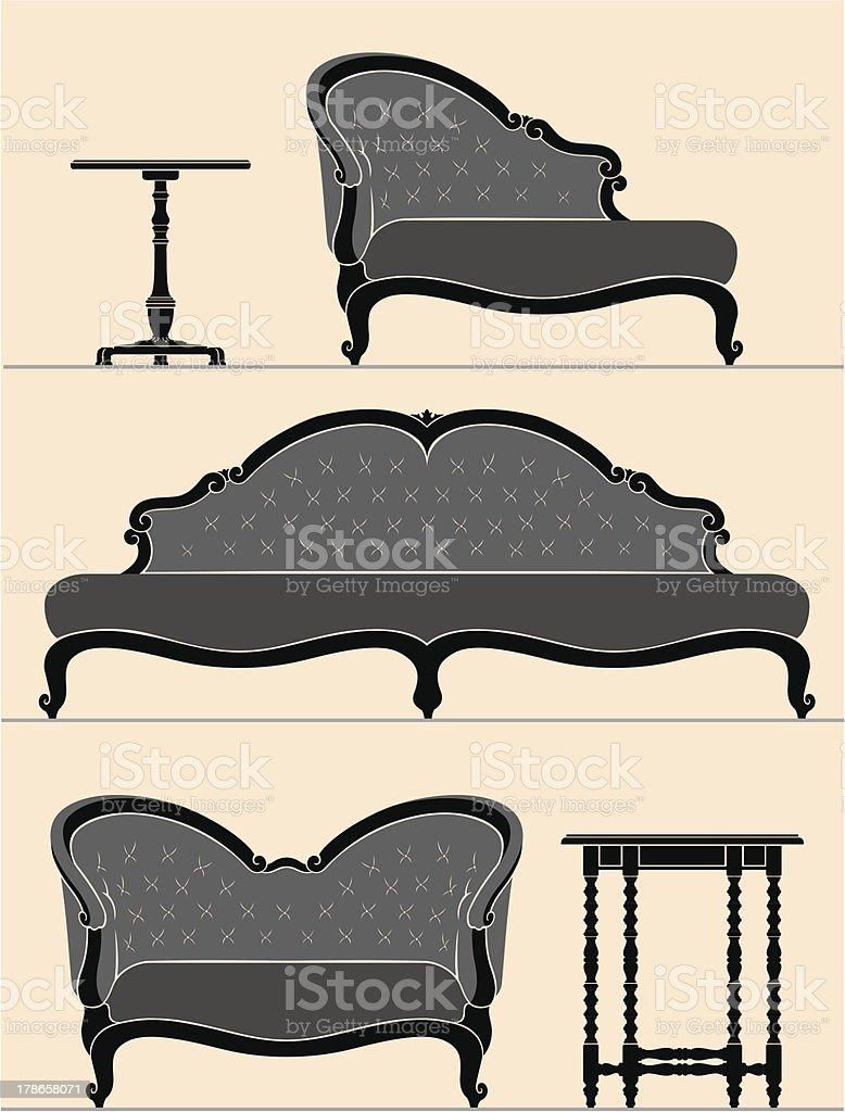 Home Interior Set royalty-free stock vector art