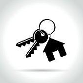 home keys icon on white background