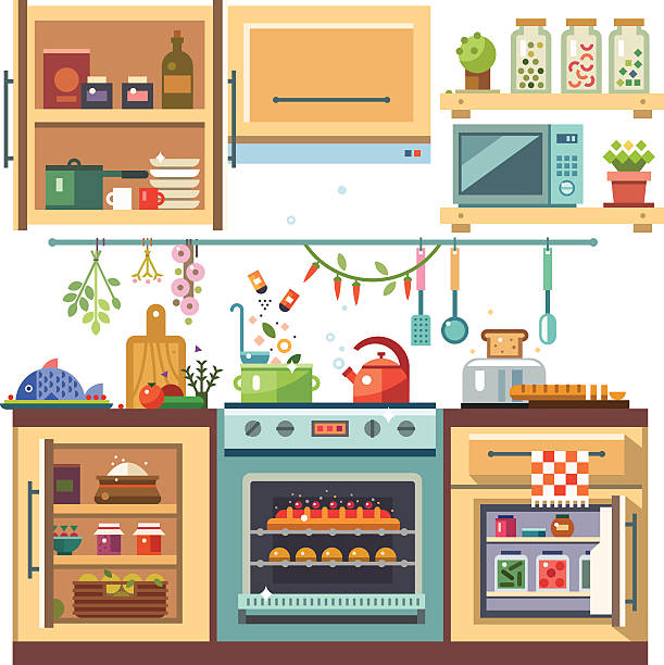 Kitchen Drawer Clip Art: Royalty Free Kitchen Cabinets Clip Art, Vector Images