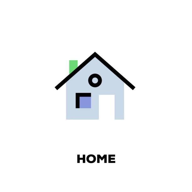 hauptlinie symbol - neues zuhause stock-grafiken, -clipart, -cartoons und -symbole