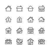 16 Home Outline Icons.