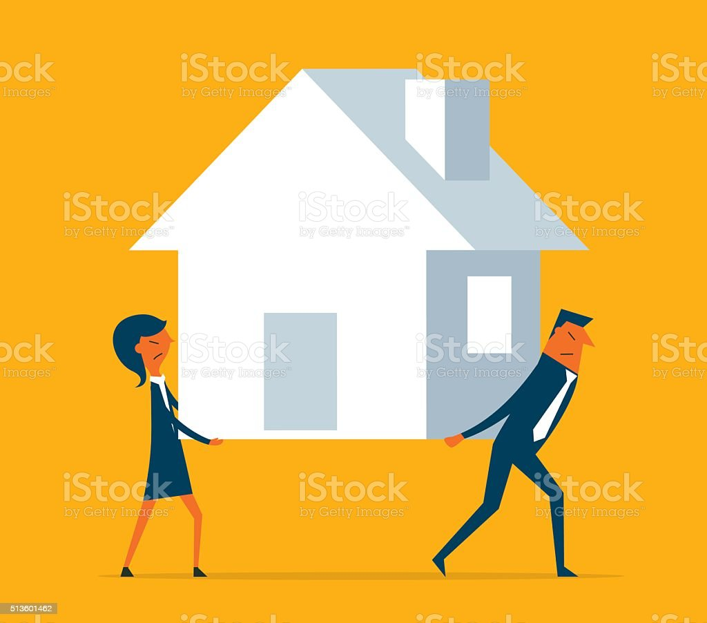 Home Loan vector art illustration
