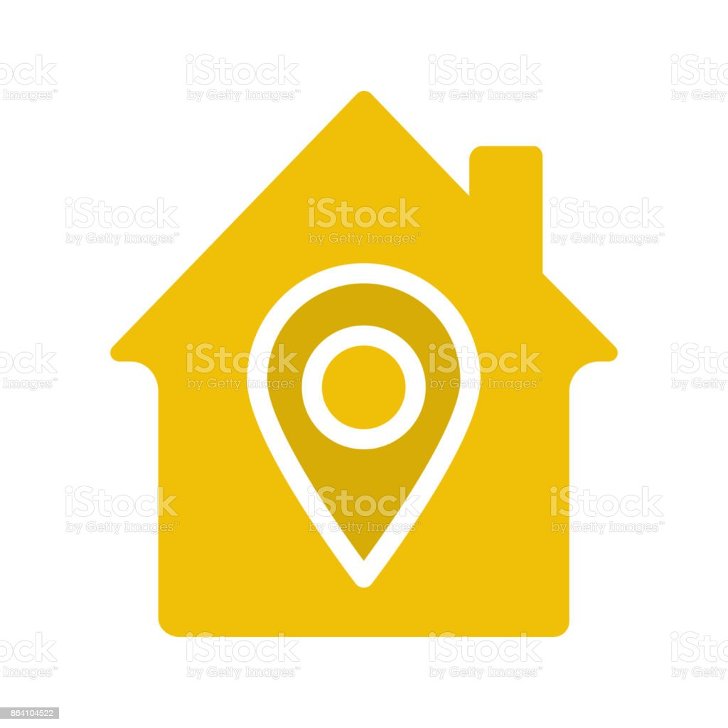 Home location icon royalty-free home location icon stock vector art & more images of accuracy