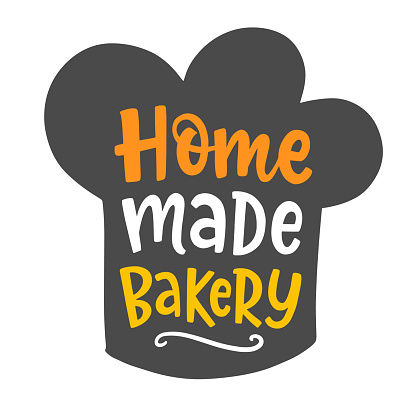 Home made bakery type, hand written lettering bakery shop