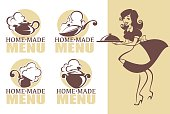 home made food, vector icon, symbols collection
