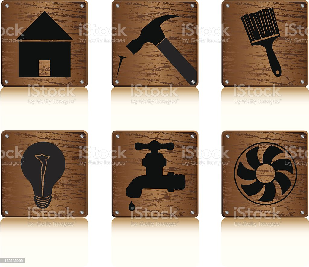 Home Maintenace/Remodel Icons royalty-free stock vector art