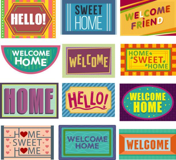 Best Welcome Mat Illustrations, Royalty-Free Vector Graphics