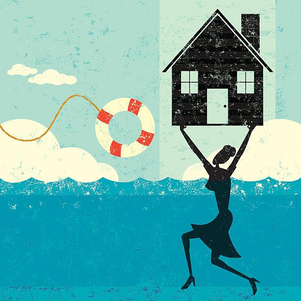 Casa mortgage ayuda - ilustración de arte vectorial