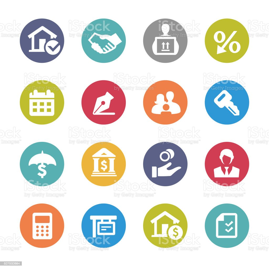 Home Mortgage Icons - Circle Series vector art illustration