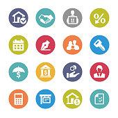 Home Mortgage Icons - Circle Series