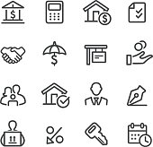 Home Mortgage Icons - Line Series