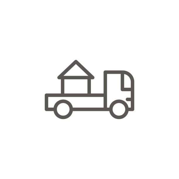 zuhause, bewegen, umzug vektor-symbol. einfache elementdarstellung aus dem ui-konzept. zuhause, bewegen, umzug vektor-symbol. immobilienkonzept vektor-illustration. - funktionssofa stock-grafiken, -clipart, -cartoons und -symbole