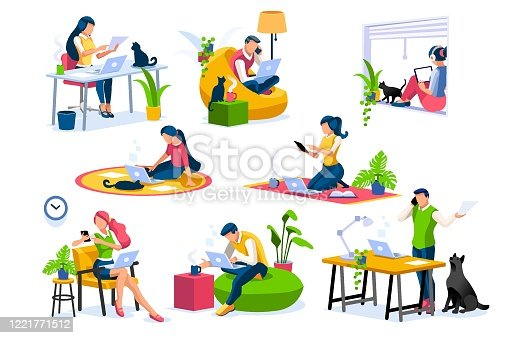 istock Home Office Collection Isometric People 1221771512