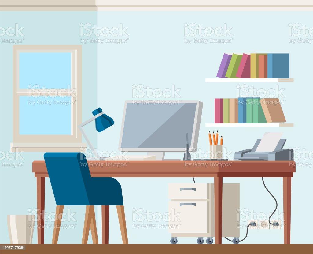 バイオハザード本棚椅子の作業ホーム オフィス コンピューター   アイコンのベクターアート素材や画像を多数ご用意 927747938 | IStock