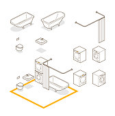 isometric elements for home / office