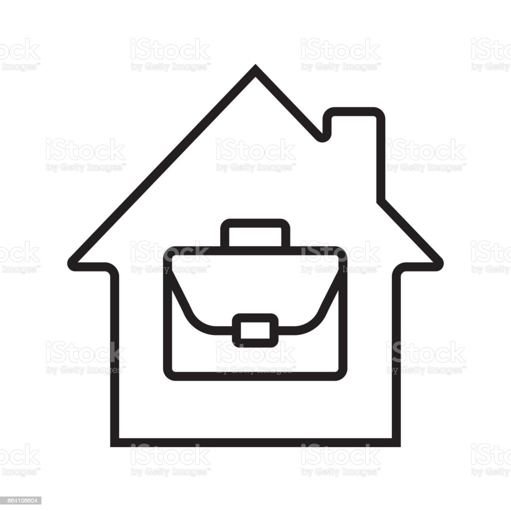 Home office icon royalty-free home office icon stock vector art & more images of architecture