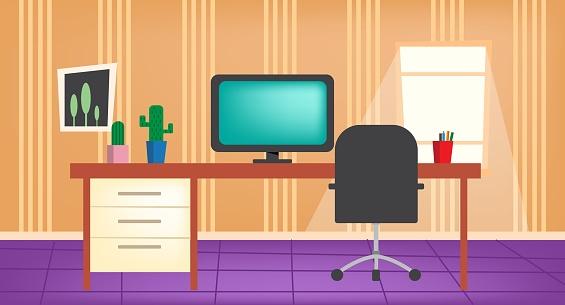 Home Office Illustration in 4K Resolution