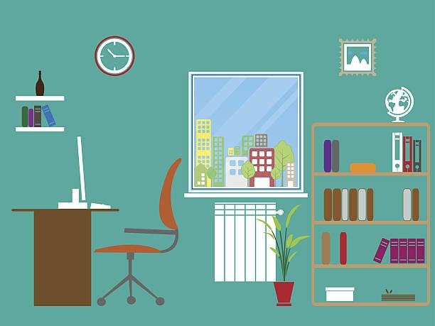home office interior design - 在宅勤務点のイラスト素材/クリップアート素材/マンガ素材/アイコン素材