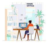 istock Home Office Interior. Freelancer At Work. 1280033180