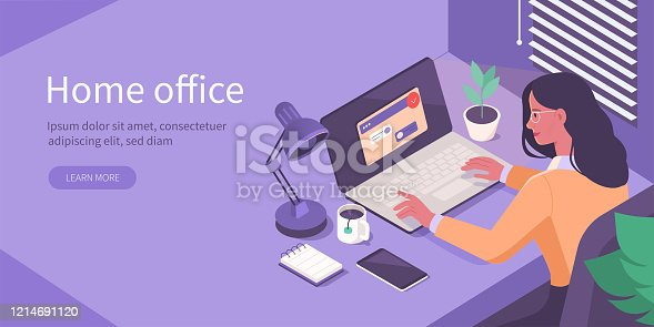 istock home office isometric 1214691120
