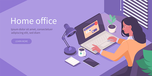 home office isometric