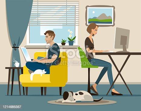 istock Home office 1214685357