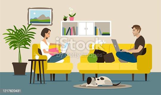 istock Home office 1217620431