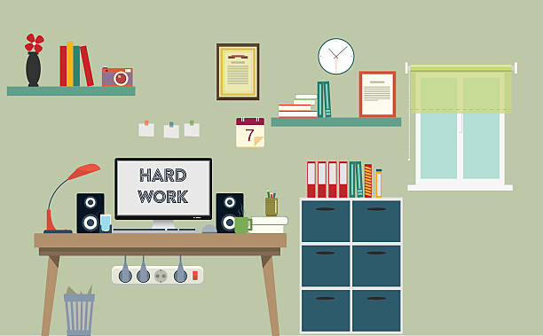 Royalty Free Home Office Clip Art, Vector Images & Illustrations ...