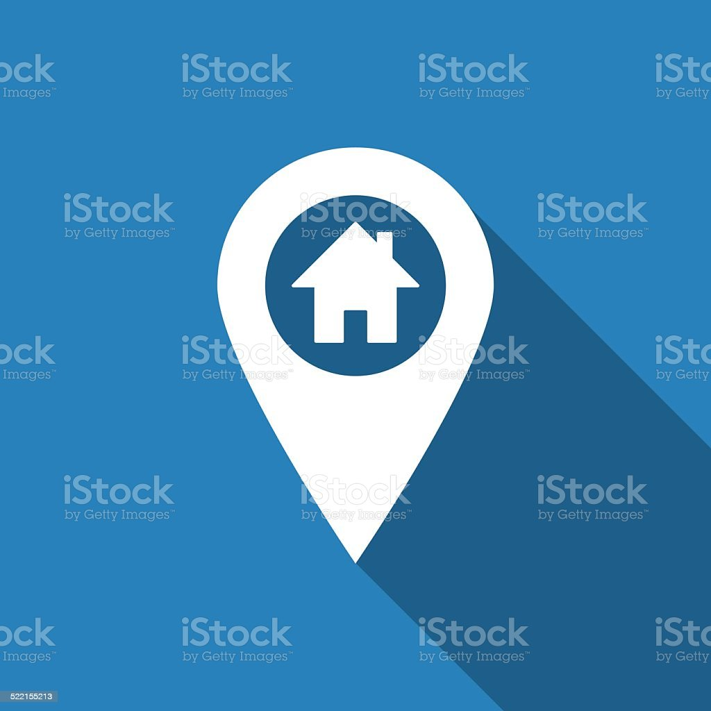 home on pin vector art illustration