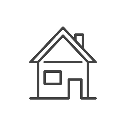 Home outline icon. Real estate concept. Vector illustration.