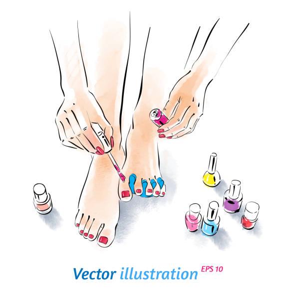 Pedicure Clipart: Manicure Clip Art, Vector Images & Illustrations