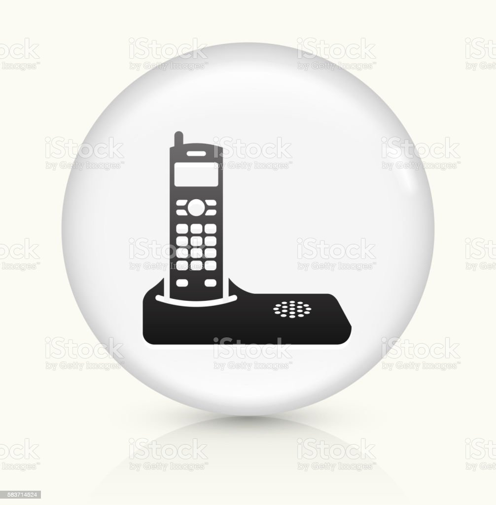 Home Phone icon on white round vector button vector art illustration