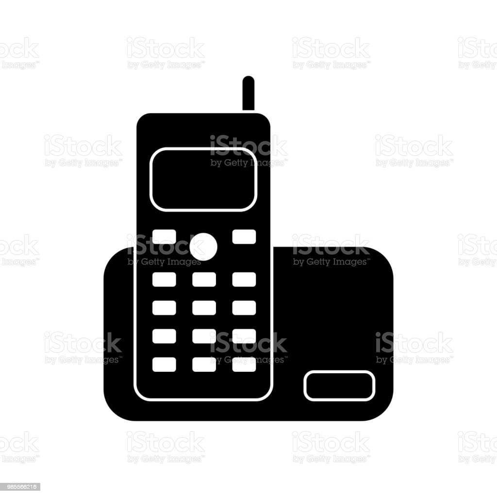 Home Phone Icon Vector Icon Simple Element Illustration Home Phone