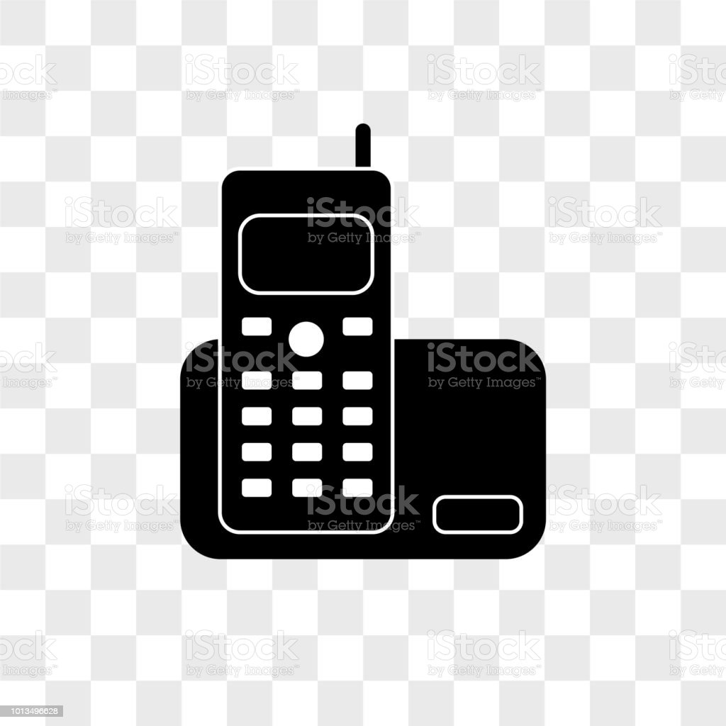 Home Phone Vector Icon On Transparent Background Home Phone Icon