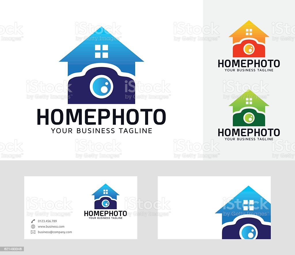 Home Photo vector logo home photo vector logo – cliparts vectoriels et plus d'images de abstrait libre de droits