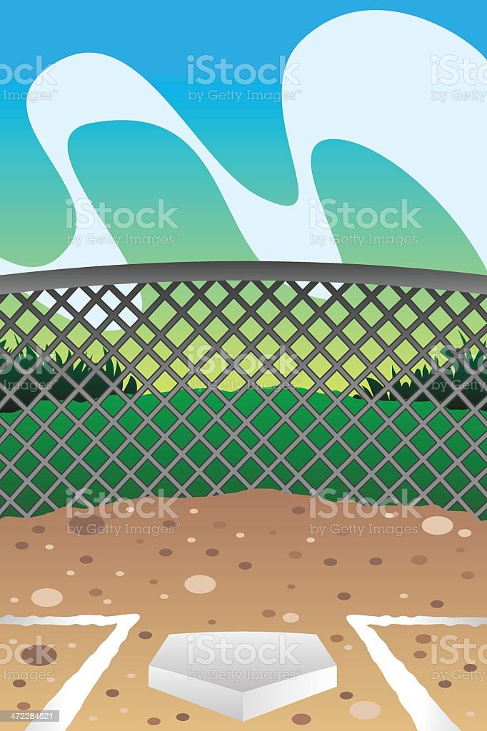 Home Plate vector art illustration