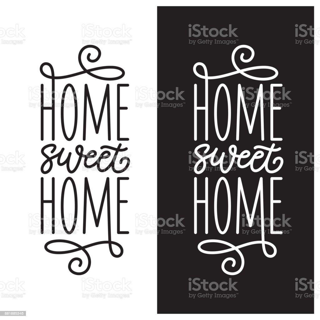 Accueil associés affiche. Typographie vintage Vector. - Illustration vectorielle
