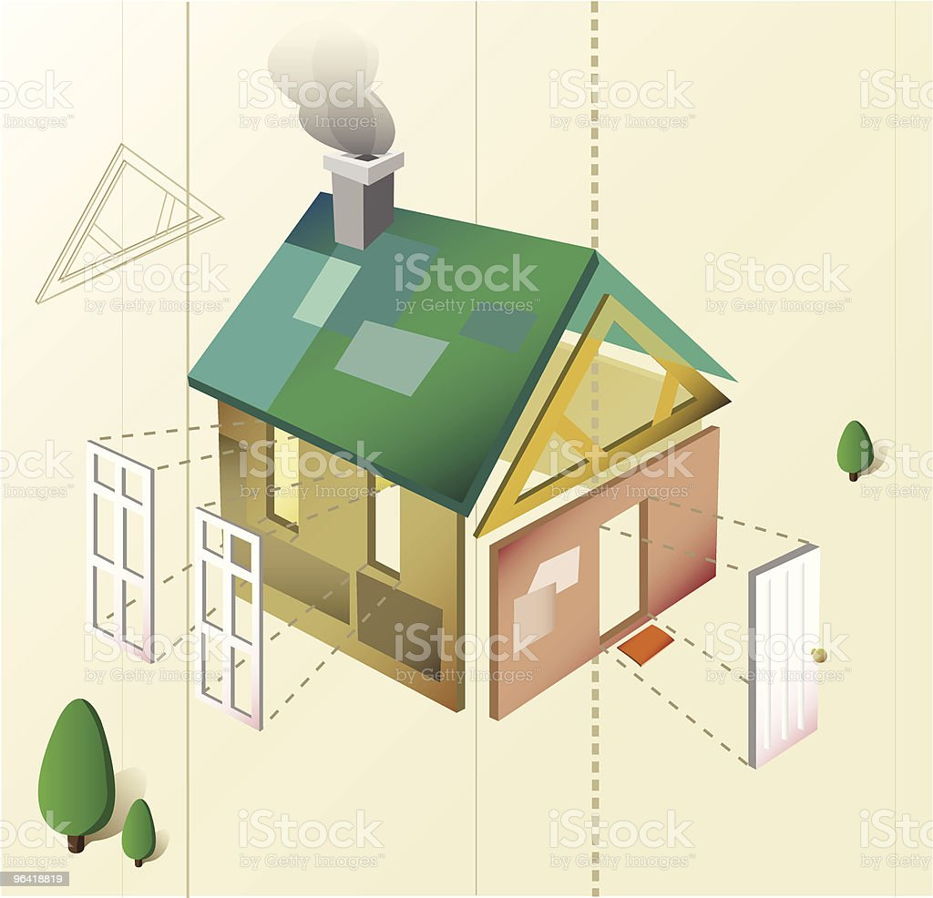 Home Remodeling [vector] royalty-free stock vector art