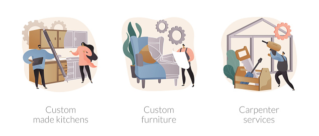 Home renovation abstract concept vector illustrations.