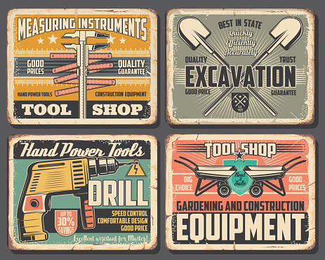 Home repair and construction work tools shop