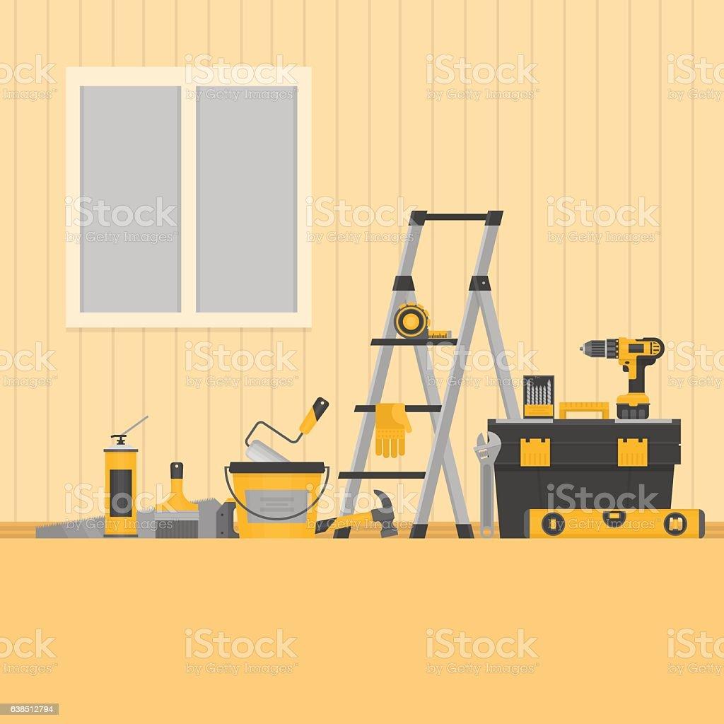 home repair banner construction tools stock vector art 638512794